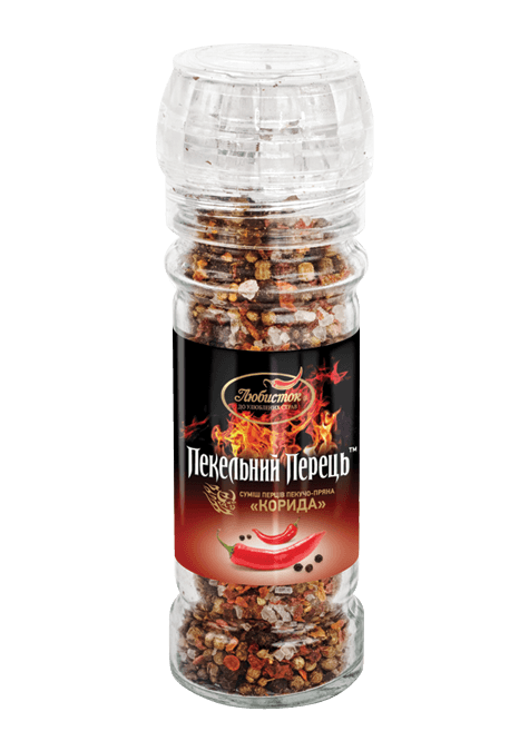 "A hot spicy mix of peppers ""Corrida"" 70g"