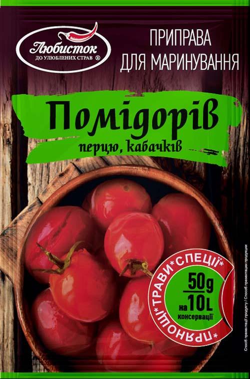 Приправа для маринования помидоров, перца, кабачков 50г